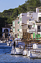 Spain, Balearic Islands, Majorca, Santanyi, view to boats and houses - THAF000041