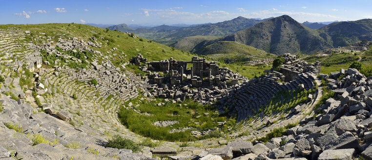 Turkey, Antalya Province, Taurus Mountains, Pisidia, antique theater at the archaeological site of Sagalassos - ES000980