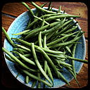 Green beans on a plate - LVF000632