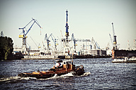 Germany, Hamburg, Tugboat at Blohm and Voss dry dock - HOH000472