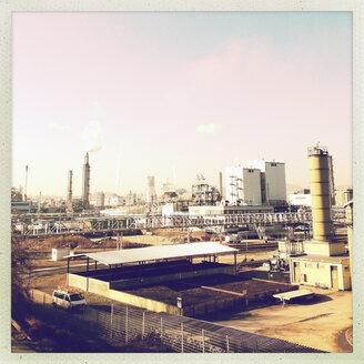 Refinery in the industrial area in Linz, Linz, Upper Austria, Austria - MSF003307
