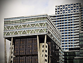 Netherlands, The Hague, facades of high rise office buildings - HOHF000486