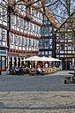 Germany, Hesse, Melsungen, market place and restaurant - AM001834