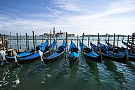 Italy, Venice, Gondolas and church San Giorgio Maggiore - EJWF000259