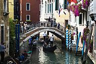 Italy, Venice, Gondolas on Canale Grande - EJW000290