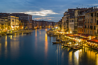 Italy, Venice, Canale Grande at dusk - EJWF000285