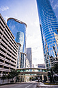 USA, Texas, Houston, view to high-rise buildings at Smith Street - ABAF001255