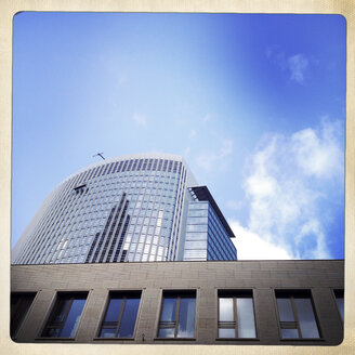 Office tower, glass and steel architecture. Frankfurt, Germany - ZMF000248