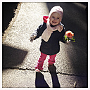 Little Girl with Rose, Valentine's Day, Munich, Bavaria, Germany - GSF000754