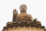 China, Hongkong, Lantau Island, Ngong Ping, view to Tian Tan Buddha - GW002584