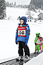 Germany, Eschach, Boy in ski school - JED000162