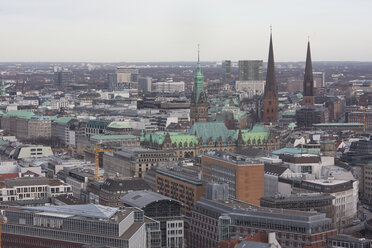 Germany, Hamburg, city view and churches - ZMF000261