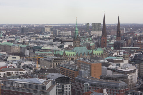 Germany, Hamburg, city view and churches - ZMF000261