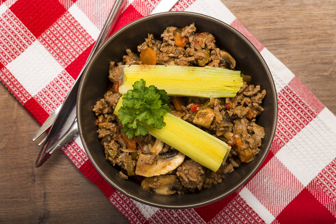 Vegetable mincemeat pan, ready to eat - CSTF000009