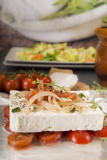 Preparation of low carb dish baked Feta cheese - CSTF000012