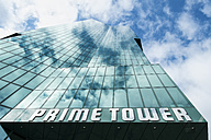 Switzerland, Canton Zurich, Zurich, facade of Prime Tower from below - EL000879