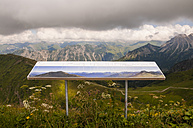 Germany, Allgaeu, View over Stillach Valley and Allgaeu Alps from Kanzlerwand - WG000250