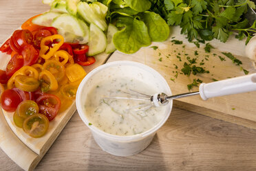 Yogurt sauce with different herbs, Ingredients for Kebab Omelett, Low Carb - CSTF000044