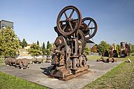 Germany, North Rhine-Westphalia, Oberhausen, LVR Industrial Museum, Machine Parts - WI000398