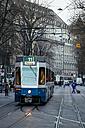 Switzerland, Zurich, tram on the road - EL000899