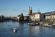 Switzerland, Zurich, view to Limmat River and Limmatquai - ELF000891