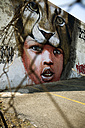 South Africa, Johannesburg, Graffiti at wall in downtown - TK000290