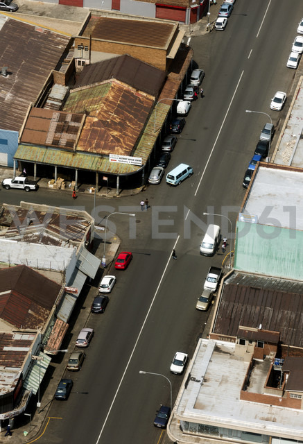 South Africa, Johannesburg, Overview of industrial area with street - TKF000286