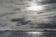 Germany, Cuxhaven, Skyline of harbour - FOF006347