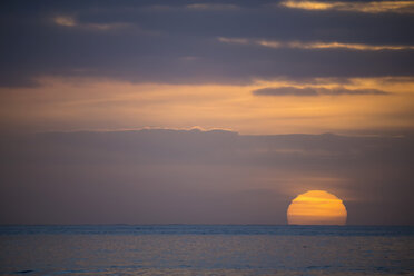 Germany, Sunset over North Sea - FOF006353