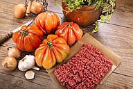 Ingredients for filled beefsteak tomato, Low Carb - CSTF000081