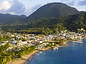 Caribbean, St. Lucia, View on Soufriere - AMF001884