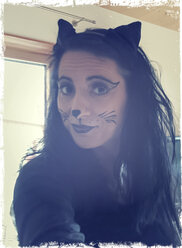 Woman masquerading as a cat - SARF000268