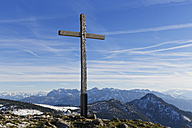 Germany, Bavaria, Chiemgau, Hochries summit cross - SIEF005121