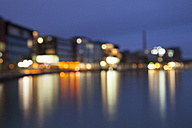 Germany, Munster, View of city harbor, blurred - WIF000461
