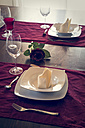 Place setting on festive laid table - SARF000298