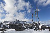 Italy, Dolomites, Alto Adige, Sassongher, winter sport region Alta Badia - MABF000216