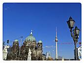 Berlin City Center, Castle Bridge, Berlin Cathedral, TV Tower, St. Mary's Church, Germany, Berlin - BFR000366