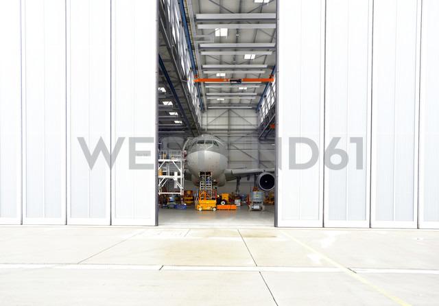 Airplane in a hangar - SCH000048