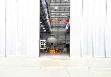 Airplane in a hangar - SCH000048