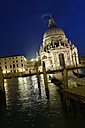 Italy, Venice, Canale Grande, Church Santa Maria della Salute at night - LB000623