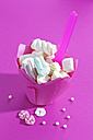 Wrap of marshmallows on pink ground - CSF020982