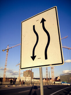 Road sign near Central Train station, Berlin, Germany - FBF000264
