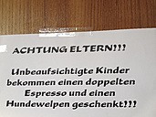 Sign for parents, Restaurant, Berlin, Germany - FB000251