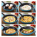 Collage with variation of egg dishes in frying pan - CSTF000157
