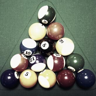 Poolbilliard, numbers, billiard ball, Hamburg, Germany - SEF000629