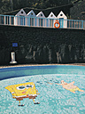 Spain, Canary Islands, La Palma, Hotel pool - MSF003435