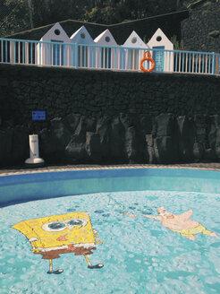 Spain, Canary Islands, La Palma, Hotel pool - MSF003435