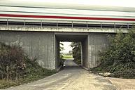 Germany, train blur crossing a bridge - HC000022