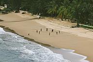 Thailand, Takua Pa, Khao Lak, people playing football on beach - HC000028