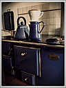 Coffee Maker in old wood stove, Schirmitz, Bavaria, Germany - SARF000350